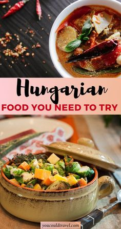 Traditional Hungarian Food You Need To Try - When it comes to Hungarian food, there isn't just one specific course you should aim for but instead you can enjoy a whole culinary affair in Hungary! Croatian Recipes, Hungarian Recipes, Hungarian Food, Hungarian Cuisine, German Recipes, European Cuisine, Veggie Recipes, Veggie Food, Bread Recipes