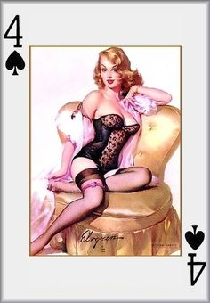 Pin-Up Girls Poker Card
