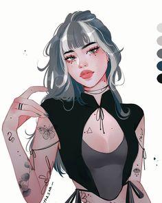 Manga Anime Girl, Cool Anime Girl, Anime Oc, Beautiful Anime Girl, Anime Girls, Arte Digital Fantasy, Digital Art Girl, Foto Cartoon, Cartoon Art