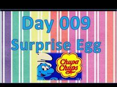 day 009 surprise egg ball chupa chups smurfs (Abrir um ovo surpresa chupa-chups smurf, estrumpfe)