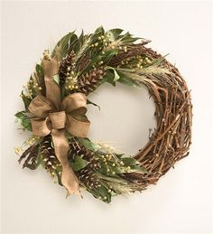 Main image for Harvest Pine Cone Wreath, 22%26quot; dia.