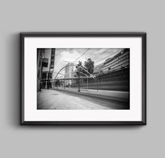 Black and white landscape Cityscape, Manchester / urban / cityscape / wall art / home decor / photography