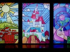 beauty and the beast stained glass by MagnoliaBoho
