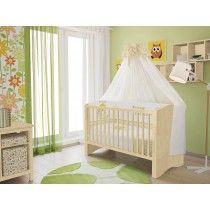 Polini Kids Babybett Kinderbett mit Matratze und Bettwäsche Bett Set 4-teilig