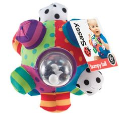Bright colors, bold patterns and easy to grip! Inspire the senses with this sensory toy to stimulate your baby's vision, touch, and hearing! From Sassy Baby #weperceive