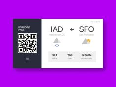 Boarding Pass concept  by Hanna Jung
