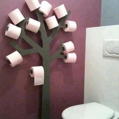 never run out of toilet paper or search for it under the sink. Great for guest bath
