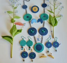 A selection of original handmade jewellery by Maureen Mitchell.