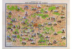 Paris des Environs Poster, 1910-1950
