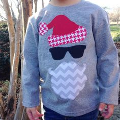 sweet sprouts boys hipster santa merry christmas by ohsweetsprouts Love this for Parker. Christmas Vinyl, Christmas Applique, Merry Little Christmas, Homemade Christmas, Christmas Shirts, Winter Christmas, Christmas Sweaters, Vinyl Shirts, Kids Shirts