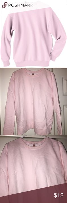 EUC | Pale Pink Crew Neck Sweatshirt 🌼Pale pink crew neck sweatshirt                                          🌼Soft & comfy, 80% Cotton / 20% Polyester                                  🌼Excellent used condition, only worn once, no rips/stains Questions? Just ask!  BUNDLE & SAVE: 15% OFF 2+ ITEMS! Hanes Tops Sweatshirts & Hoodies