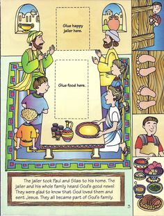 Paul and Silas Bible craft Jesus Crafts, Bible Crafts For Kids, Bible Study For Kids, Preschool Bible, Sunday School Lessons, Sunday School Crafts, Spiritual Church, Religion Catolica, Catholic Kids