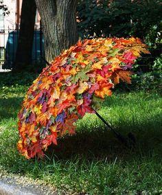 Garten Landschaftsbau Hinterhof Herbstlaub-Umbrella / Herbstlaub-Umbrella, made to measure, use at f Deco Floral, Easy Garden, Veg Garden, Upcycled Garden, Garden Tips, Indoor Garden, Garden Crafts, Spring Garden, Autumn Garden