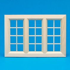 White Painted Small Wooden Window from The Dolls House Emporium