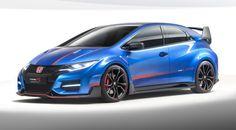 """Le nouveau """"concept"""" Honda Civic Type R 2015."""