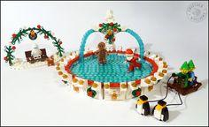 Lego winter village skating rink