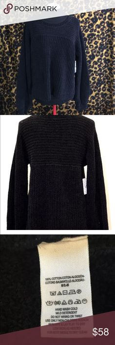 Free People Sweater don't let me go slouchy NWT Free People sweater. Don't let me go slouchy-Black. Super soft. Gracious cut with lots of snuggle room.  Ask me questions. Support my missions here and abroad. #ED16FPB27 Free People Sweaters Crew & Scoop Necks