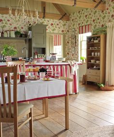 The country cottage kitchen of our dreams! County Show / AW 2014 / Laura Ashley / Home Collection Laura Ashley Home Decor, Laura Ashley Interiors, Cottage Living, Cottage Style, Living Room, Style At Home, Sweet Home, Creation Deco, Childrens Room Decor