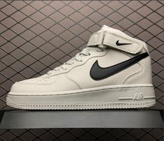 Buy Women/Men New Year Deals Nike Air Force One Mid Light Bone Black Running Shoes from Reliable Women/Men New Year Deals Nike Air Force One Mid Light Bone Black Running Shoes suppliers.Find Quality Women/Men New Year Deals Nike Air Force One Mid New Air Force One, Air Force One Shoes, Air Force 1 Mid, Mens Nike Air, Nike Air Vapormax, Nike Air Force, Nike Men, Cheap Running Shoes, Black Running Shoes