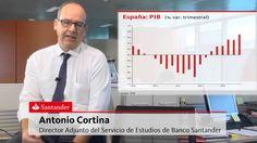 """ENTORNO MACROECONÓMICO PIB Antonio Cortina, Director Adjunto del Servicio de Estudios de Banco Santander:  """"La recuperación de la economía irá ganando fuerza"""""""