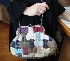 bolso tela japonesa bolso vintage en patchwork, bolso de mano en patchwork bolso okinawa