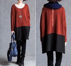 Fashion cotton stitching dress/ blue lake dress/ leisure от MaLieb