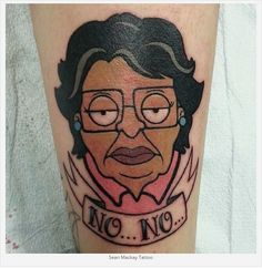 Click link in our bio to see 14 more funny Family Guy tattoos! Ink by…