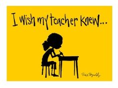"A presentation to help students complete the writing prompt, ""I wish my teacher knew..."""