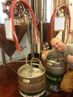 Head brewer John Way filling City Star Brewing's first kegs back in 2012. Photo courtesy Denver Post.