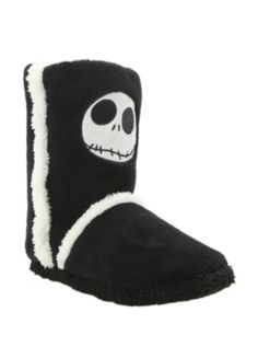 The Nightmare Before Christmas Jack Slipper Boots... I think I just died