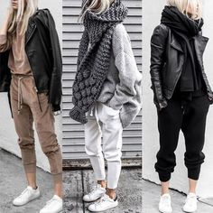 winter outfits with leggings woman___magazine auf - winteroutfits Joggers Outfit, Legging Outfits, Sporty Outfits, Cute Outfits, Athleisure Outfits, Sweatpants, Winter Fashion Outfits, Fall Winter Outfits, Autumn Fashion
