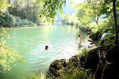 Wild swimming in France.  This roundup of secret swimming holes has me yearning for summer...again.
