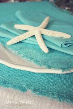 turquoise & white