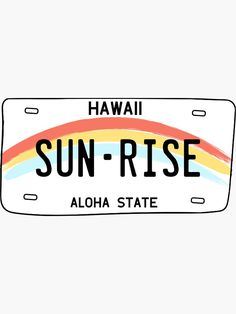 Retro Wallpaper Discover Hawaii Sun Rise License Plate Sticker by sflissler Iphone Background Wallpaper, Aesthetic Iphone Wallpaper, Aesthetic Wallpapers, Bedroom Wall Collage, Photo Wall Collage, Cute Patterns Wallpaper, Retro Wallpaper, Thema Hawaii, Photowall Ideas