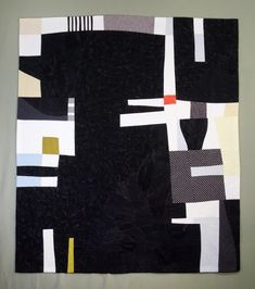 Elizabeth Brandt.... I'm not sure if this is before or after her other curve-shaped pieces, but again her voice is there - with the partly curved shapes and the commercial fabrics, lots of black and white.