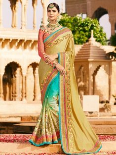1d8205c2525f2 Sarees Online  Buy Multi Silk Designer Embroidered Saree At Best Price On  Variation. Huge Collection Of Designer Sarees