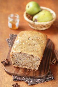 RECIPE: Breakfast, dessert, or snack, this skinny pear bread is just the thing for a healthy treat! www.viance.com #healthyrecipes #health #nutrition
