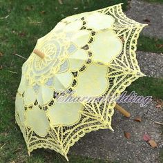 Yellow lace parasol Ebay £12ish