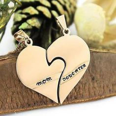 Mother Daughter Gold Necklace Heart Gold Purity Pendant Infinity Neckl