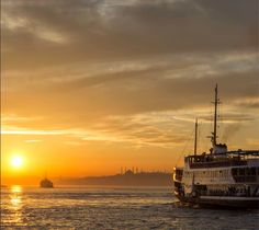 The fading of the day's light over the city.. But in Istanbul, this doesn't mean the day is over!