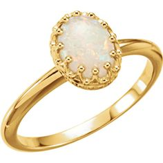 14k Yellow gold Australian Opal Crown Ring :http://www.stormgems.co.za/product/14k-yellow-gold-australian-opal-crown-ring/