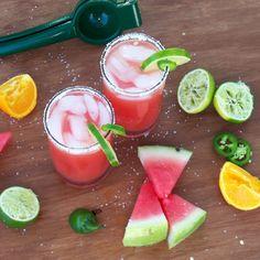 Jalapeño watermelon margarita!!!