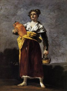 Francisco Jose de Goya y Lucientes - Water carrier at Museum of Fine Arts Budapest Hungary Spanish Painters, Spanish Artists, Francisco Goya Paintings, Art Espagnole, Francisco Jose, Kunsthistorisches Museum, Oil Canvas, Chef D Oeuvre, Oil Painting Reproductions