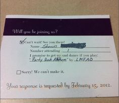 AW: Yay the RSVP postcards worked!!! First RSVP received! - Project Wedding Forums