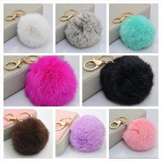 Fur pom pom keychain/purse charms available at www.urbandoll.bigcartel.com