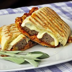 Marinara Meatloaf with Provolone - even better as a panini sandwich the next day!