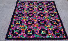 """The parrot quilt I made for Barbara.  Quilted by @Missouri Star Quilt Company.  I love bold patterns.  If I won I would make a bold modern quilt for myself.  Somehow I never get around to any """"selfish"""" sewing."""