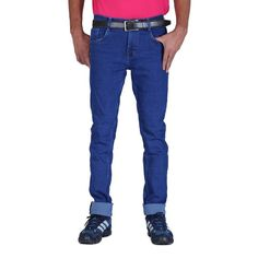 ALLY of Focker Men's Blue Slub Stretchable Jeans in all season basic design with Two Front, Two Back & One Ticket Pocket. 	Suits you in both casual & semi-casual occasions, parties, dating, outing, evening out, evening parties, get-together etc. 	Carries you in your own style with comfo