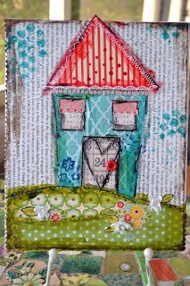 It's no secret that I'm a big fan of altered, mixed media, off-the-page projects!     I wanted to make a little canvas as a gift for a...