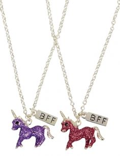 BFF Glitter Unicorn Necklaces